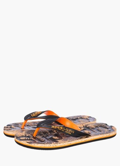 Men Flip Flops & Sandals MF3005SOF1 Black Rubber Superdry