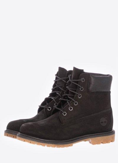 Women Boots A1K38 Black Nubuck Leather Timberland