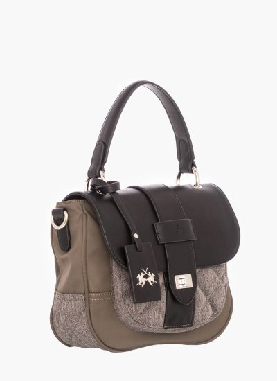 Women Bags W052 Black Fabric La Martina