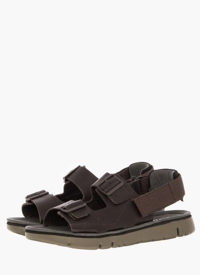 Men Flip Flops & Sandals K100287 Brown Leather Camper