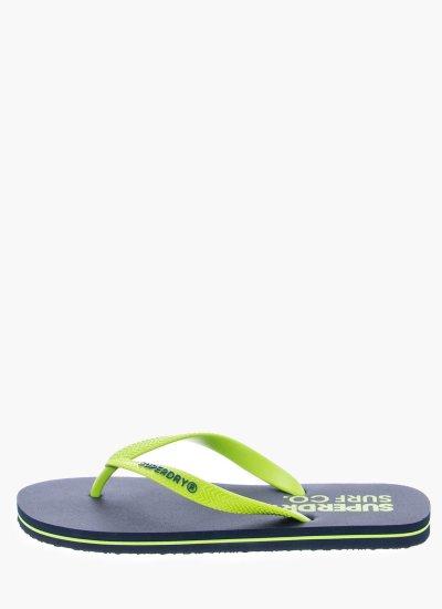 Men Flip Flops & Sandals MF3003SQF1 Green Rubber Superdry
