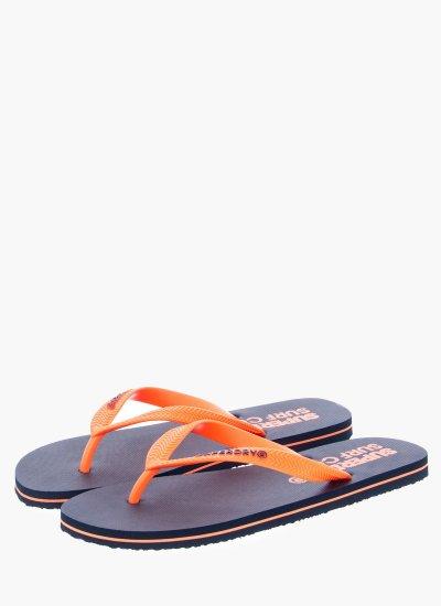 Men Flip Flops & Sandals MF3003SQF1 Orange Rubber Superdry