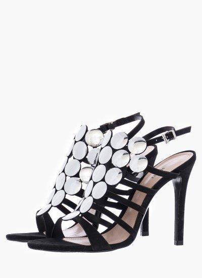 Women Sandal High 01387.1276 Black Leather Schutz