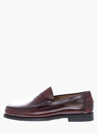 Men Moccasins 76100 Bordo Shiny Leather Callaghan