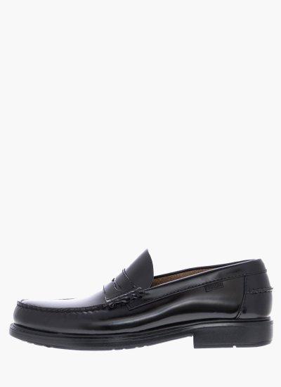 Men Moccasins 90000 Black Shiny Leather Callaghan