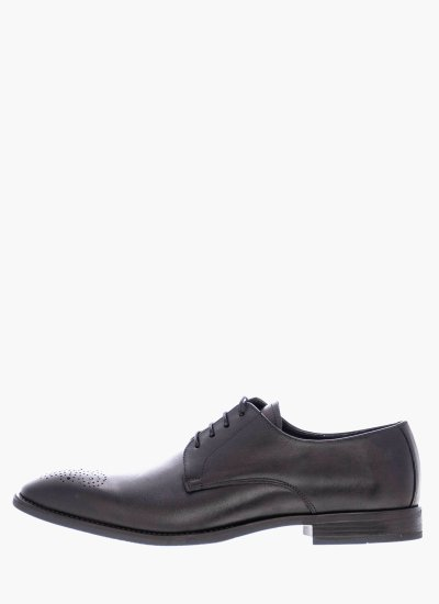 Men Shoes 2037 Black Leather Mortoglou