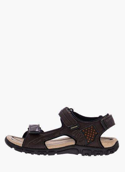 Men Flip Flops & Sandals U9224C Brown Oily Leather Geox