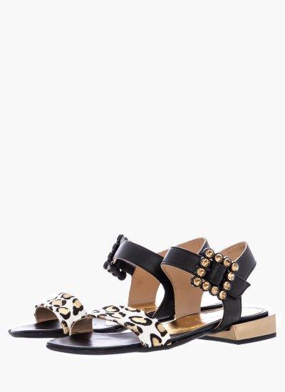 Women Sandals Low 4159 Black Leather Alpe