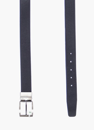 Men Belts 41M057 DarkBlue Leather La Martina