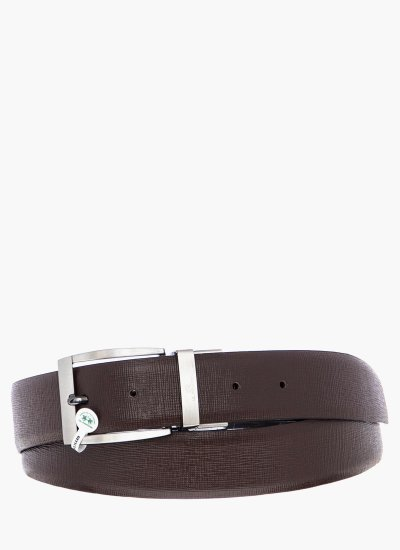 Men Belts 41M057 DarkBrown Leather La Martina