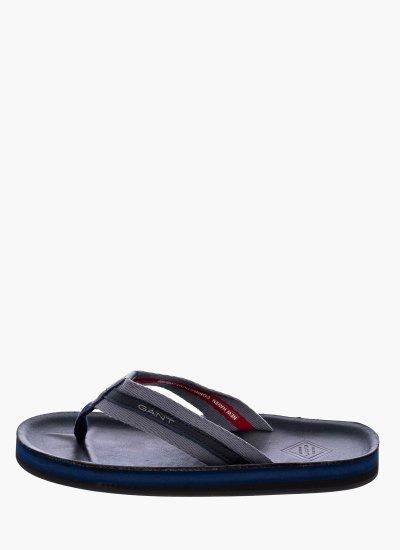 Men Flip Flops & Sandals Breeze.gs Blue Leather GANT