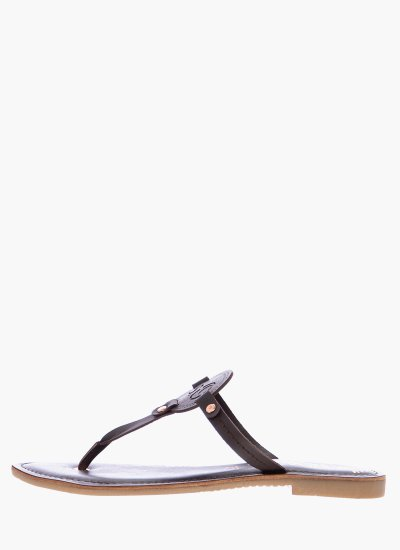 Women Flat Sandals 27123 DarkBrown Leather S.Oliver