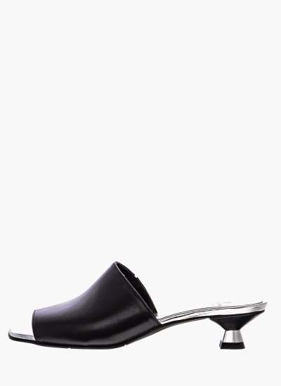 Women Sandals Low 037 Black Leather B