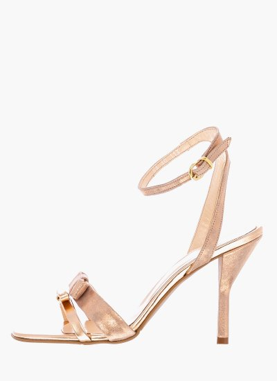 Women Sandal High 113 Bronze Leather B