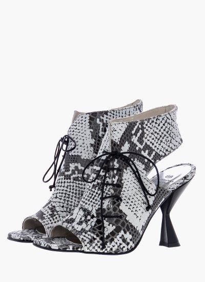 Women Sandal High 95 White Leather B