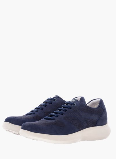 Men Casual Shoes 16602 Blue Nubuck Leather Callaghan