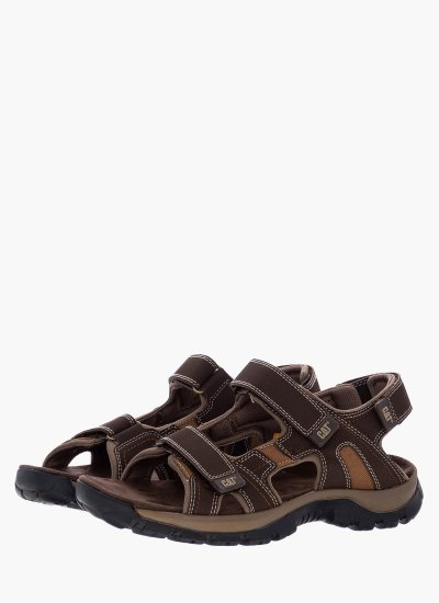 Men Flip Flops & Sandals P716654 Brown Eco-Leather Caterpillar