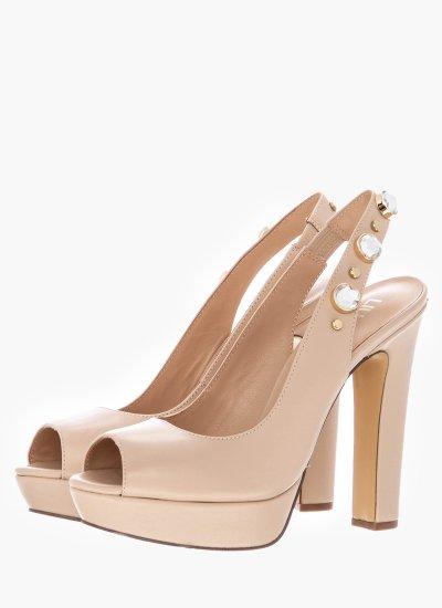 Women Sandal High Eranthe Nude Leather LIU JO