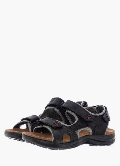 Men Flip Flops & Sandals Earth Black Oily Leather Lumberjack