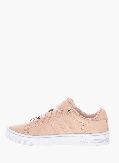 Women Casual Shoes Court.Frasco Nude Leather K-Swiss