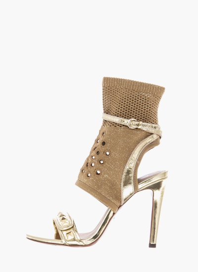 Women Sandal High Gatsby Gold Ash