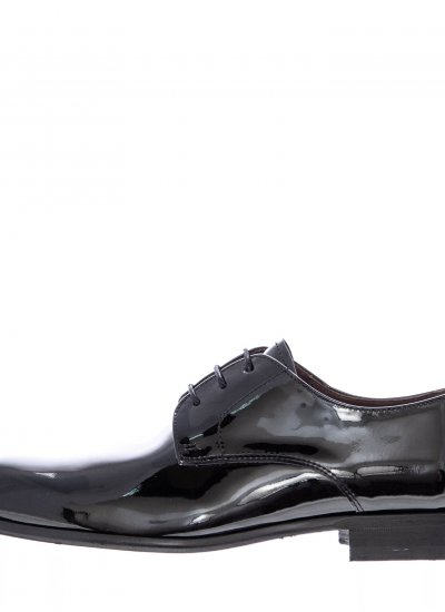 Men Shoes 4869 Black Shiny Leather Perlamoda