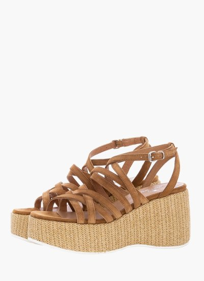 Women Platforms High 43802 Tabba Suede Leather Janet & Janet