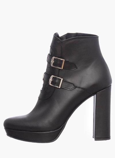 Women Boots 610 Black Leather Mortoglou