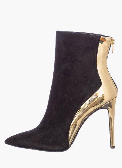 Women Boots S978 Black Suede Leather Mortoglou