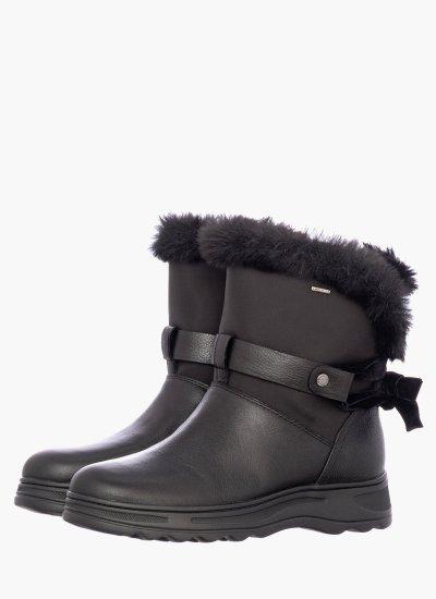 D84AUC Black Leather Geox