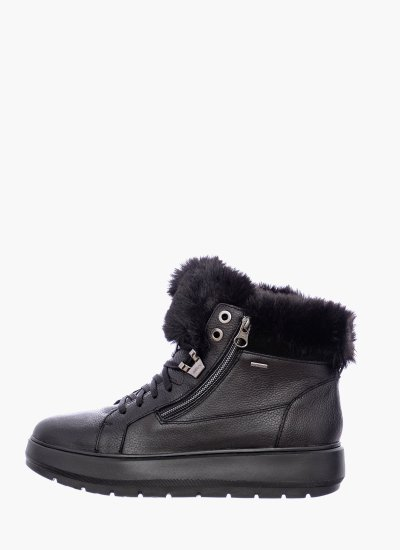 Women Boots D84AWD Black Leather Geox