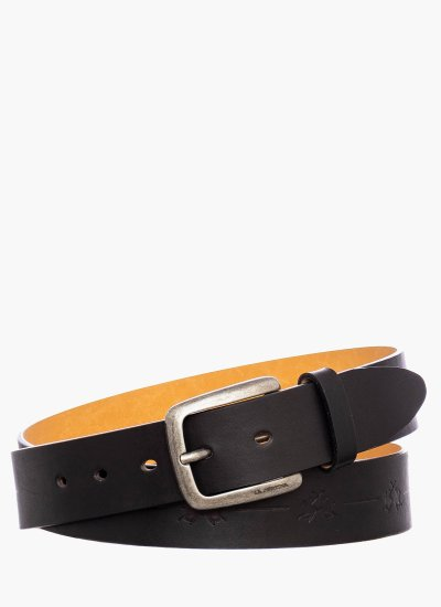 Men Belts 41M166 Black Leather La Martina