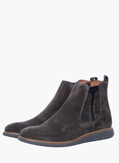 Men Boots 1000 Grey Suede Leather Damiani