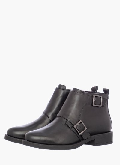 Women Boots 25309.S Black Leather S.Oliver