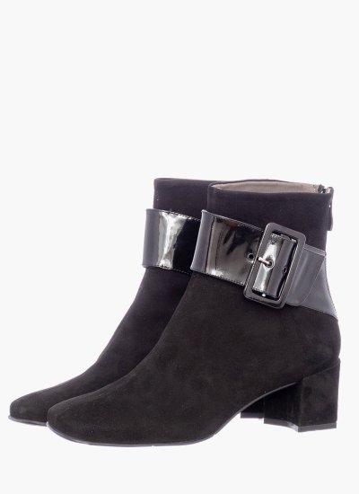Women Boots 55 Black Suede Leather B