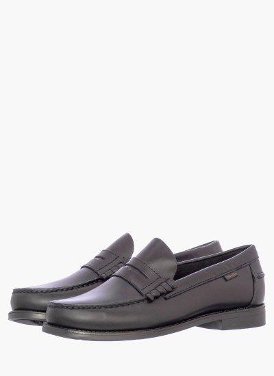 Men Moccasins 76100.D Black Leather Callaghan