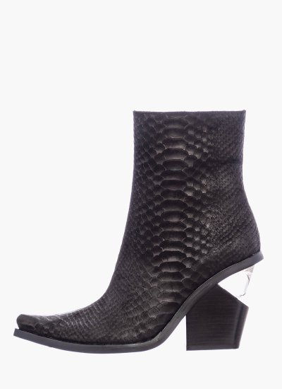 Women Boots Walton.Lh Black Leather Jeffrey Campbell