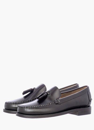 Men Moccasins Classic.Will Black Leather Sebago