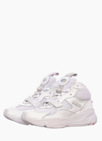 Women Casual Shoes Aurano.Mid White Leather Ellesse