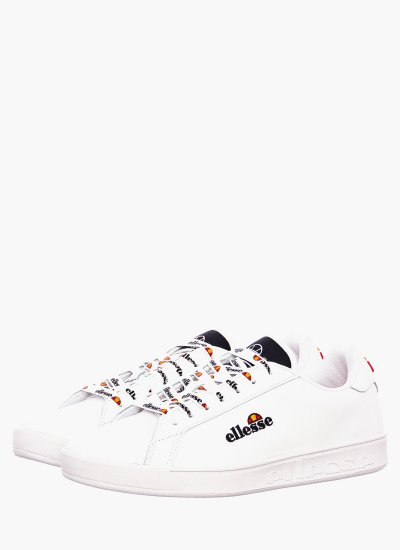Women Casual Shoes Campo.Emb White Leather Ellesse