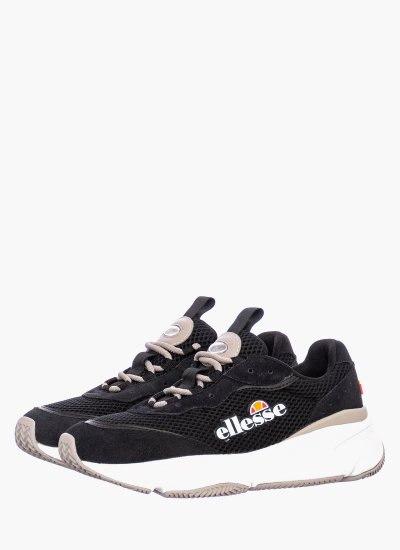 Women Casual Shoes Massello Black Suede Leather Ellesse