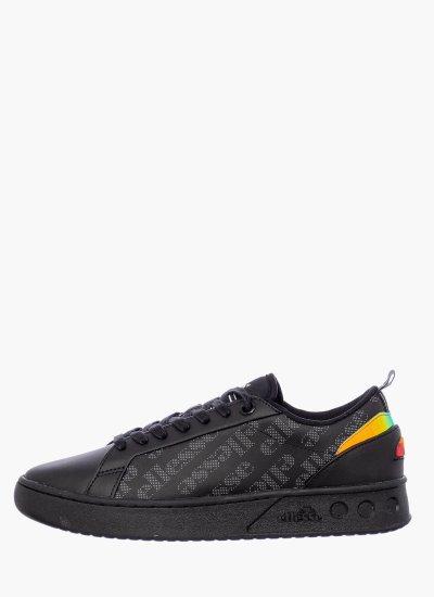 Women Casual Shoes Mezzaluna Black Leather Ellesse