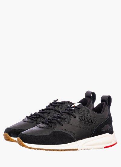 Men Casual Shoes Potenza Black Leather Ellesse