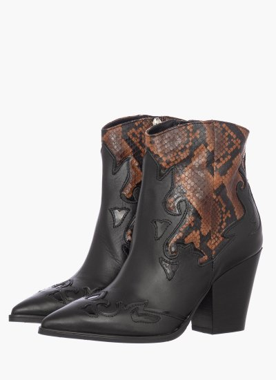 Women Boots 44503 Black Leather Janet & Janet