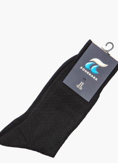Men Socks 162 Black Cotton Pournara