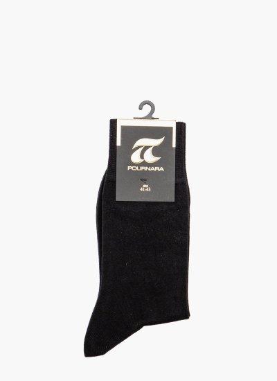 Men Socks 212 Black Cotton Pournara