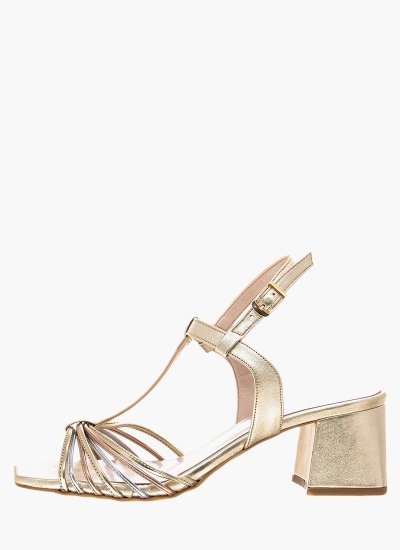 Women Sandals Low 2037.50140K Gold Leather MF