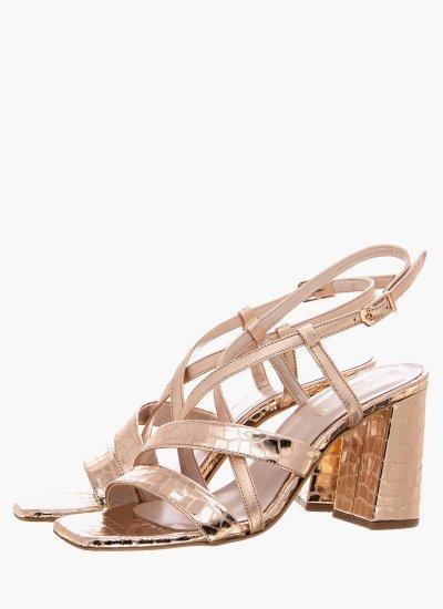 Women Sandal High 2038.52119K Bronze Leather MF