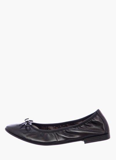 Women Balerinas 22116 Black Leather Tamaris