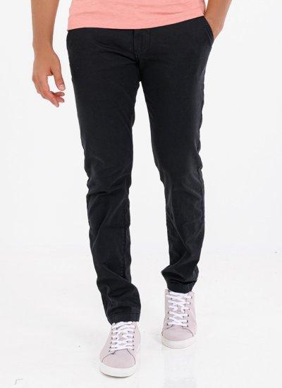 Men Pants Charly Black Cotton Pepe Jeans